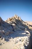 Ruïnes van Boeddhistisch klooster op berg Royalty-vrije Stock Foto
