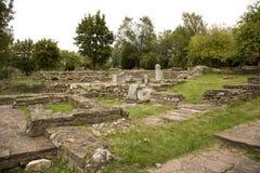 Ruïnes van Bolwerk Tsarevets Stock Foto's