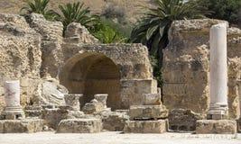 Ruïnes van Carthago stock foto