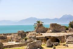 Ruïnes van Carthago stock foto's