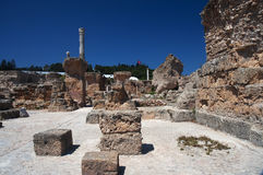 Ruïnes van Carthago, Tunesië Royalty-vrije Stock Foto's