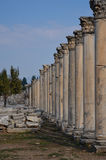 Ruïnes van Colonnaded-Straat Ephesus Royalty-vrije Stock Afbeelding