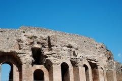 Ruïnes van colosseum Stock Foto's