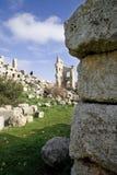 Ruïnes van de Basiliek van Heilige Simeon, Syrië Stock Fotografie