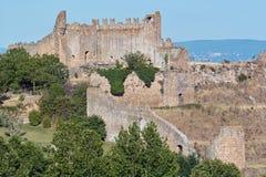 Ruïnes van de bisschoppelijke woonplaats, tuscania Stock Fotografie