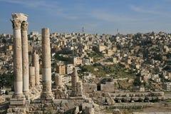 Ruïnes van de Citadel in Amman Royalty-vrije Stock Foto