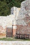 Ruïnes van 14de eeuw Kazimierz Dolny Castle, verdedigingsvestingwerk, Polen stock foto's