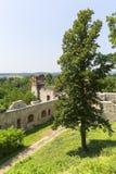 Ruïnes van de 15de eeuw middeleeuws kasteel, Tenczyn-Kasteel, het Poolse Juragebergte, Rudno stock foto