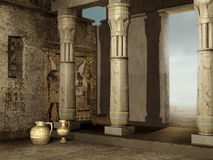 Ruïnes van de Egyptische bouw royalty-vrije illustratie