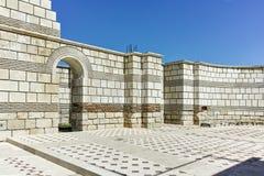 Ruïnes van de Grote Basiliek dichtbij de hoofdstad van het Eerste Bulgaarse Imperium Pliska Royalty-vrije Stock Foto's