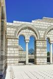 Ruïnes van de Grote Basiliek dichtbij de hoofdstad van het Eerste Bulgaarse Imperium Pliska Stock Afbeeldingen