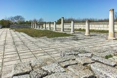 Ruïnes van de Grote Basiliek dichtbij de hoofdstad van het Eerste Bulgaarse Imperium Pliska Royalty-vrije Stock Afbeeldingen