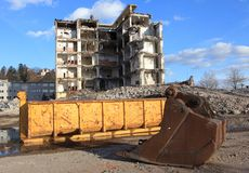 Ruïnes van de industriële bouw Royalty-vrije Stock Foto