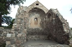 Ruïnes van de kapel van het Heilige Kruis stock foto