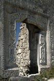 Ruïnes van de Mangup-Boerenkoolcitadel stock afbeelding