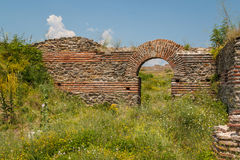 Ruïnes van de middeleeuwse Byzantijnse stad Caricin Grad Royalty-vrije Stock Foto's
