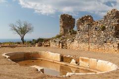 Ruïnes van de oude advertentie Cragum van stadsantiochia stock fotografie