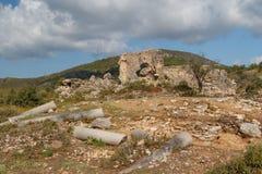 Ruïnes van de oude advertentie Cragum van stadsantiochia stock foto's