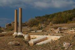 Ruïnes van de oude advertentie Cragum van stadsantiochia stock afbeeldingen