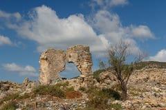 Ruïnes van de oude advertentie Cragum van stadsantiochia stock afbeelding
