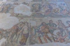 Ruïnes van de oude Griekse en Roman stad van Paphos Beroemd, royalty-vrije stock foto's