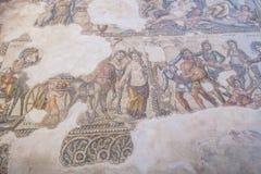 Ruïnes van de oude Griekse en Roman stad van Paphos Beroemd, royalty-vrije stock fotografie