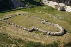 Ruïnes van de oude kerk Royalty-vrije Stock Afbeeldingen