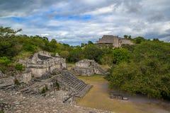 Ruïnes van de oude Mayan stad van Ek Balam Stock Afbeelding