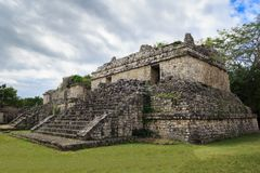Ruïnes van de oude Mayan stad van Ek Balam Royalty-vrije Stock Foto's