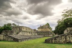 Ruïnes van de oude Mayan stad van Ek Balam in Mexico Royalty-vrije Stock Foto's