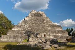 Ruïnes van de oude Mayan stad van Chacchoben stock foto's