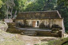 Ruïnes van de oude Mayan stad Yaxha stock foto