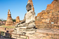 Ruïnes van de oude stad van Ayutthaya, Thailand Stock Foto