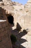 Ruïnes van de oude stad van Petra in Jordanië royalty-vrije stock foto's