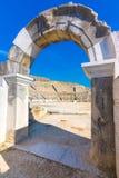 Ruïnes van de oude stad van Philippi, Oostelijk Macedonië en Thrace, Griekenland royalty-vrije stock afbeelding