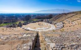 Ruïnes van de oude stad van Philippi, Oostelijk Macedonië en Thrace, Griekenland stock foto