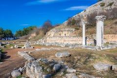 Ruïnes van de oude stad van Philippi, Oostelijk Macedonië en Thrace, Griekenland royalty-vrije stock foto