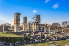 Ruïnes van de oude stad van Philippi, Oostelijk Macedonië en Thrace, Griekenland stock fotografie