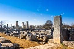 Ruïnes van de oude stad van Philippi, Oostelijk Macedonië en Thrace, Griekenland stock afbeeldingen