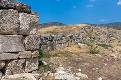 Ruïnes van de oude stad van Hierapolis Royalty-vrije Stock Afbeelding