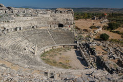 Ruïnes van de oude stad van Miletus Royalty-vrije Stock Fotografie