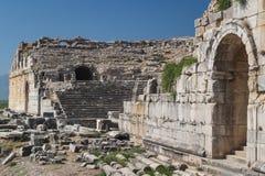 Ruïnes van de oude stad van Miletus Stock Fotografie