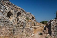 Ruïnes van de oude stad van Miletus Stock Afbeelding