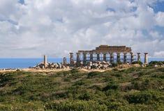 Ruïnes van de oude tempel Stock Foto