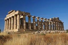 Ruïnes van de oude tempel Royalty-vrije Stock Afbeeldingen