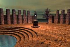 Ruïnes van de oude tempel Stock Fotografie