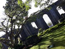 ruïnes Ruïnes van de Parochie van STOL van Santiago Apà ³, Cartago, Costa Rica stock foto's