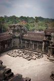 Ruïnes van de tempel, Angkor, Kambodja Stock Foto's