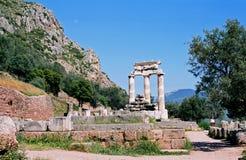 Ruïnes van de tempel van Afina Pallada Stock Foto's