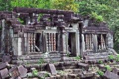 Ruïnes van de Tempel van Beng Mealea, Kambodja Stock Foto's